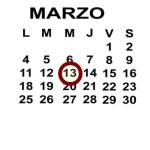MAR 13