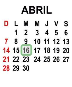 ABRIL 16 2013