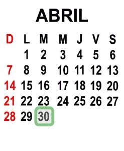 ABRIL 30 2013