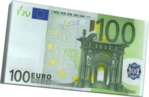 EURO bill 100