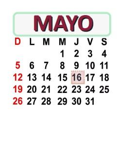 MAYO 16 2013