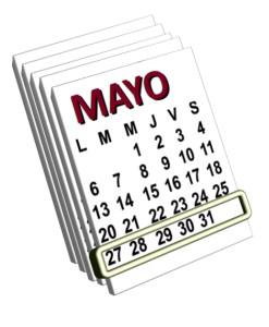 week 27  al 31 de mayo