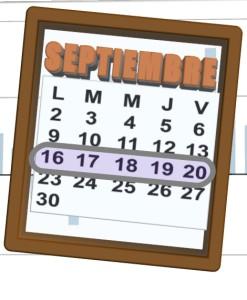 week of 16 al 20 de septiembre