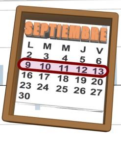 week of 9 al 13 de septiembre