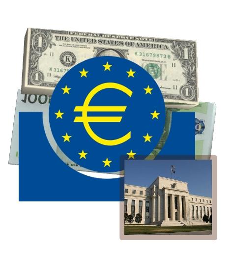 Curr EUR USD BCE FED
