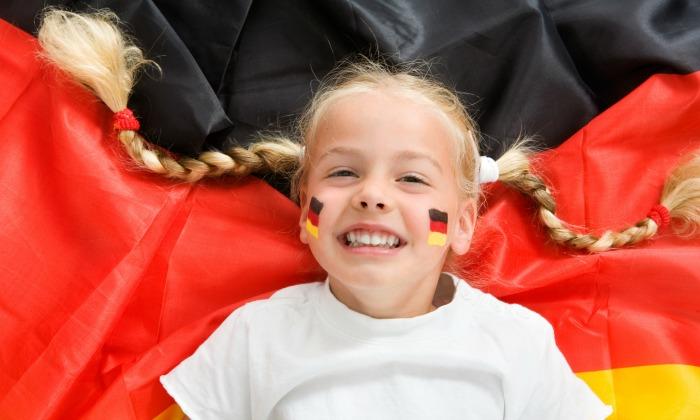 alemania-bandera-nina