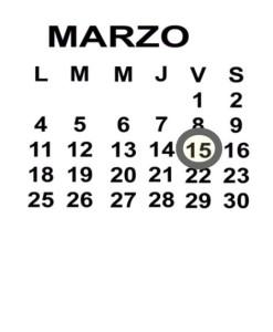 MAR 15