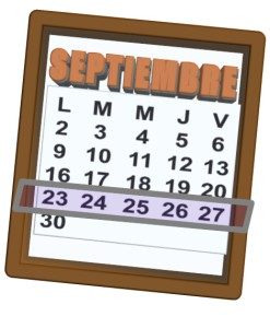 week of 23 al 27 de septiembre